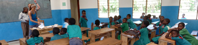 RIPPLE Africa is supporting five local primary schools, has built several classroom blocks, and pays the salaries of 15 trainee teachers