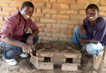6. The Changu Changu Moto cookstove is completed and is ready for use in two to three days when the mud has dried (it may be necessary to apply more mud to any cracks that develop)