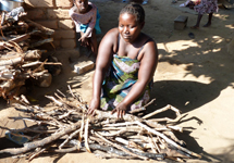 Only one bundle of wood is needed each week for a Changu Changu Moto cookstove