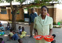 Mazembe Pre-school has about 70 children