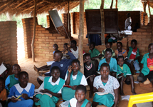 At Makwalakwata Primary School, the classrooms are very basic and very small