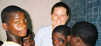 Alison teaching at Mwaya Primary School