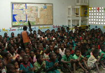 Standard 6 class at Mazembe Primary School