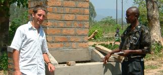 Ben with Mattias, the Medical Assistant at Kachere Health Centre