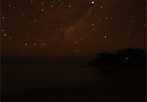 A starry night over Lake Malawi