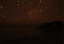 A starry night over Lake Malawi