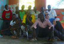 Christian with some of the teachers and learners