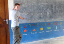 Helping to teach maths at the primary school