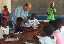 Chris teaching at holiday school