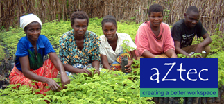 Corporate Partnerships: Aztec Cleaning Company supports RIPPLE Africa's tree planting project