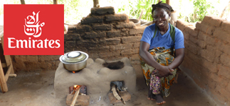 Corporate Partnerships: Emirates, the international airline, are contributing to our Changu Changu Moto cookstove project