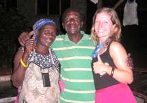 Tara with Geddess and Fabiana, two of the Mwaya cooks