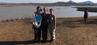 Linda, Caitlin, and Tara at Vwaza Marsh