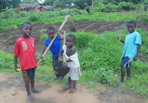 Many children are expected to help in the fields