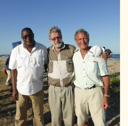 Director of Fisheries, Alex Bulirani, John Balarin of Pact and RIPPLE Africa's CEO, Geoff Furber
