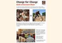 Change for Change - Build a Classroom