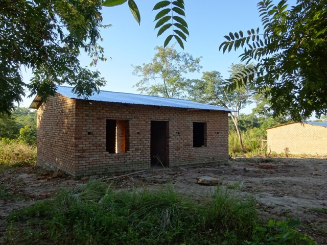 Staff house built by the community