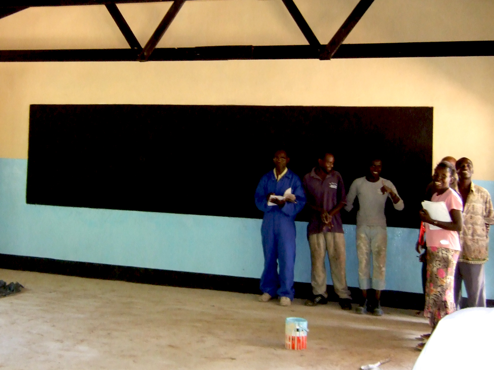 A second double classroom at Kapanda Secondary School built by RIPPLE Africa