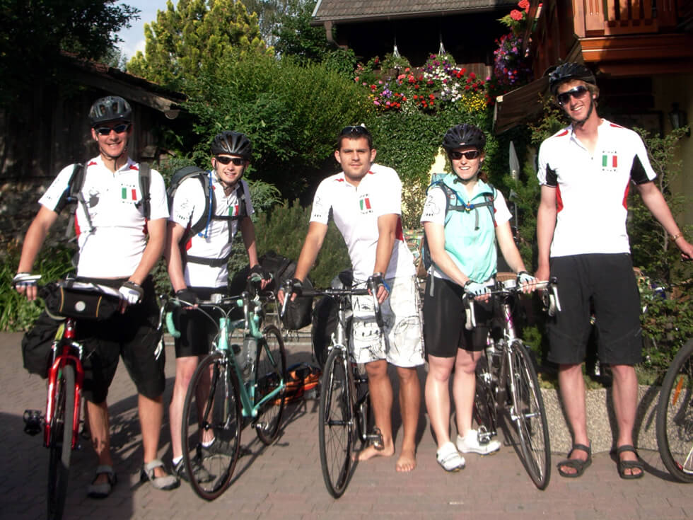 The Cycle Italia team cycled 1,700km from the Italian Alps to the southern tip of Sicily to fundraise for RIPPLE Africa