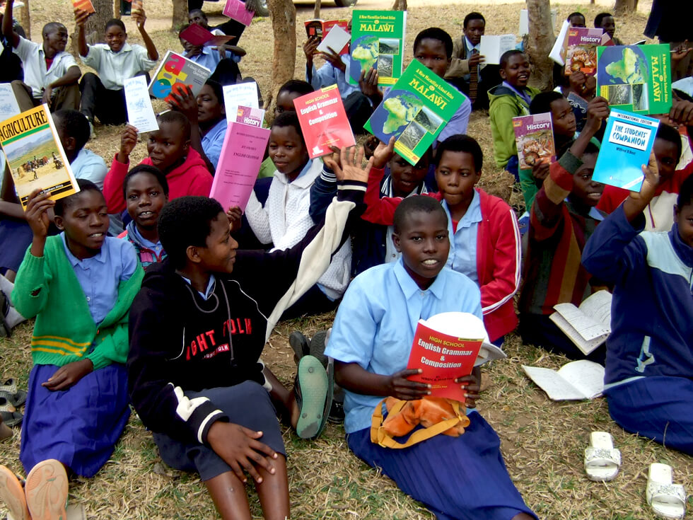 Most secondary schools have either very few or no textbooks. Kapanda Secondary School is lucky to have had textbooks provided by RIPPLE Africa