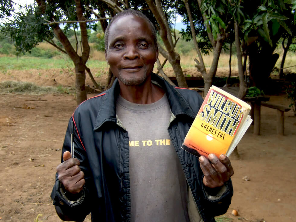 Chief Chibunya borrows a new book from the library every week