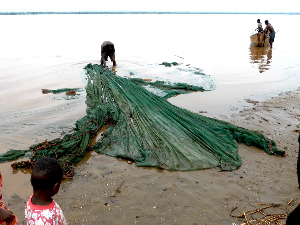 Lake Malawi has been over-fished in many places, and people are often seen using mosquito nets to catch the smallest of fish
