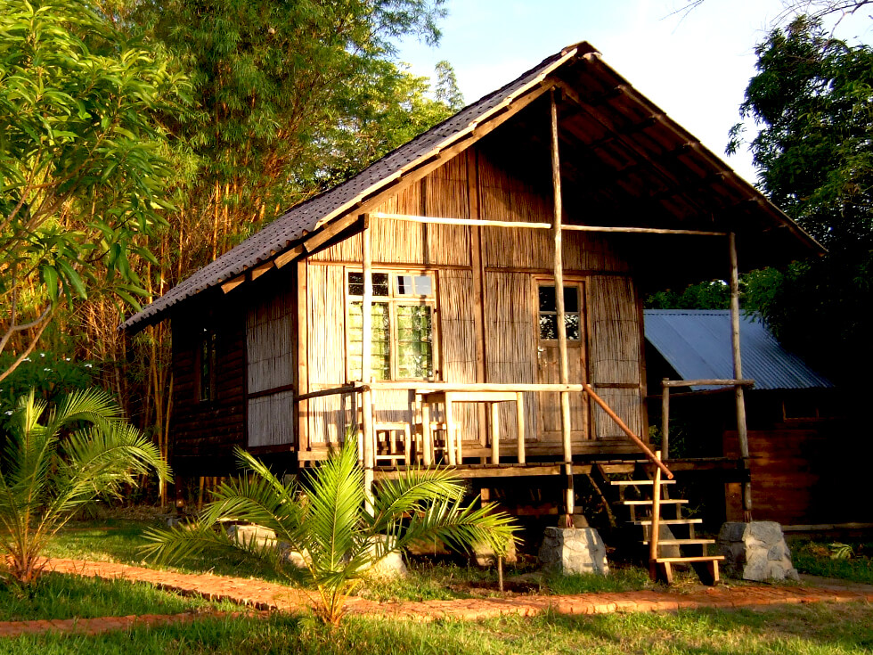 One of the five volunteer beach chalets