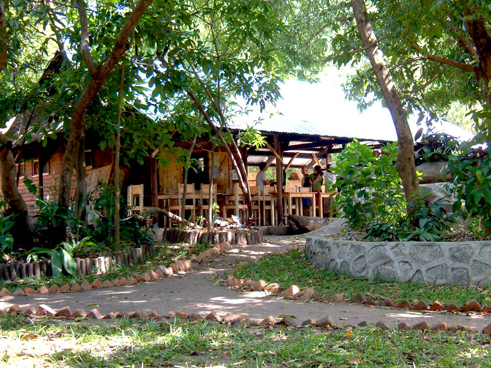 The kitchen and dining area are a central part of Mwaya Beach