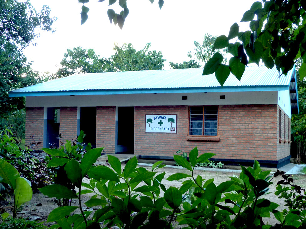 The completed Mwaya Community Dispensary