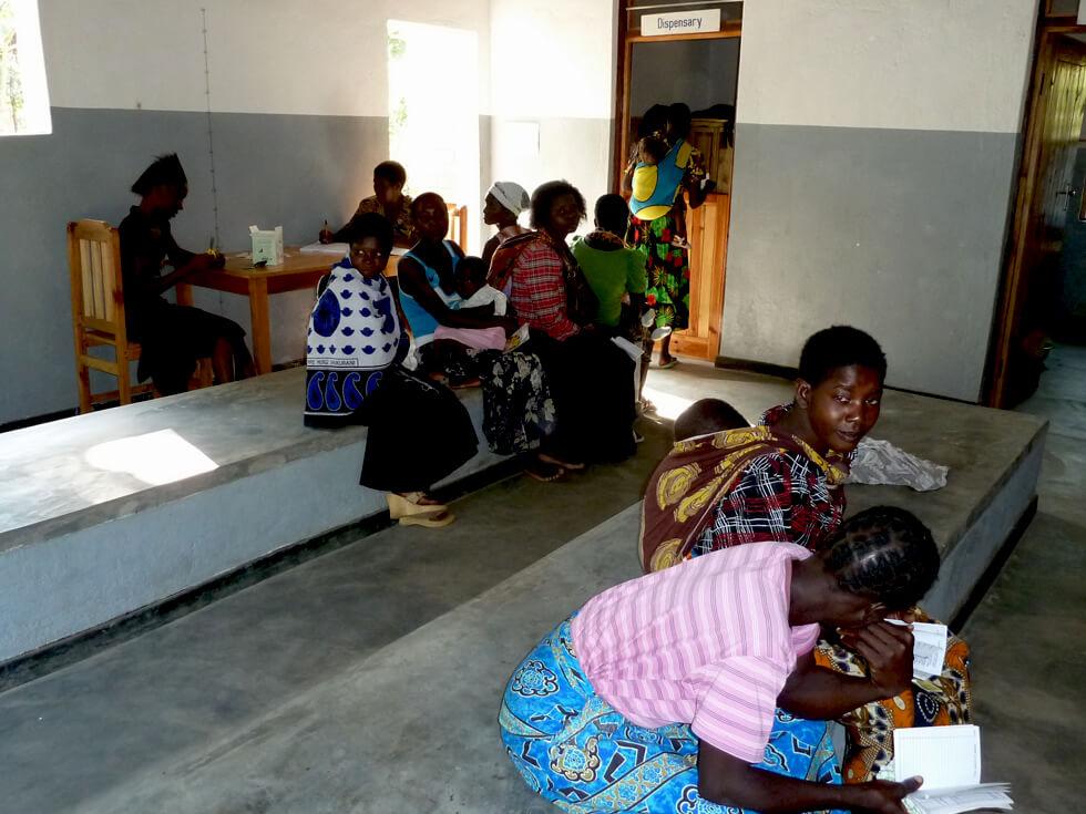 The Mwaya Community Dispensary waiting room