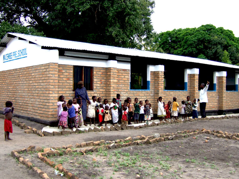 Mazembe Pre-school built by RIPPLE Africa
