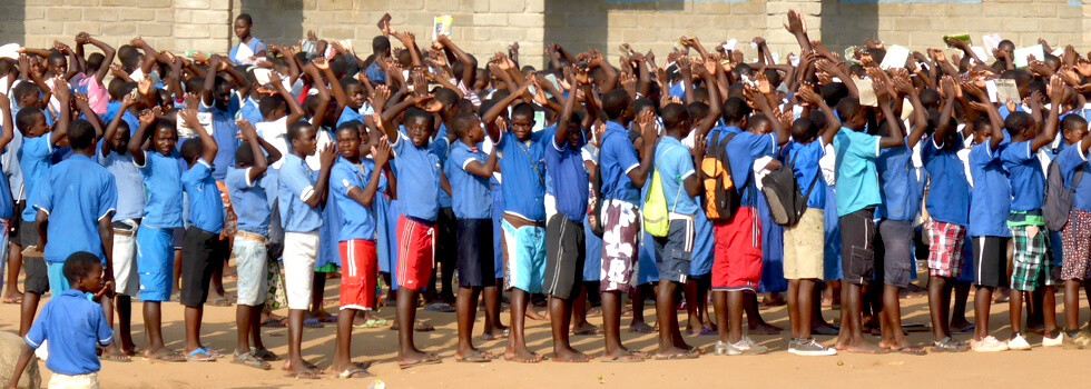 Some of the Primary school pupils