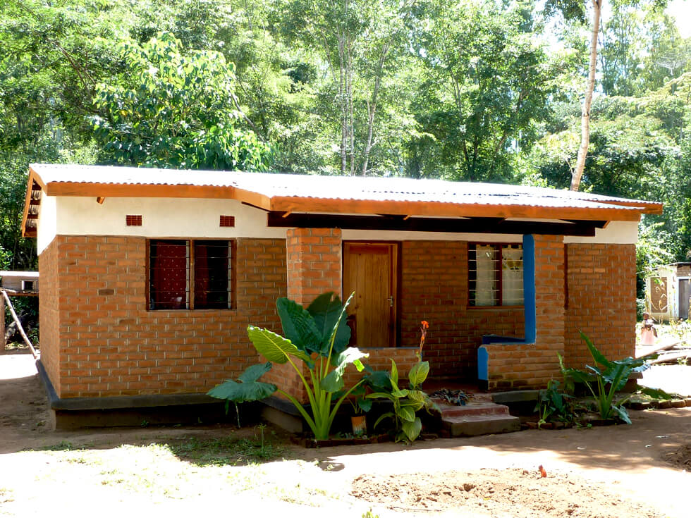 A three-bedroomed teacher's house costs £13,000