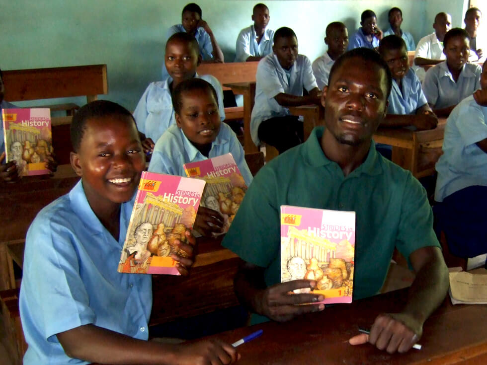 RIPPLE Africa has provided many textbooks but more will be needed for future students