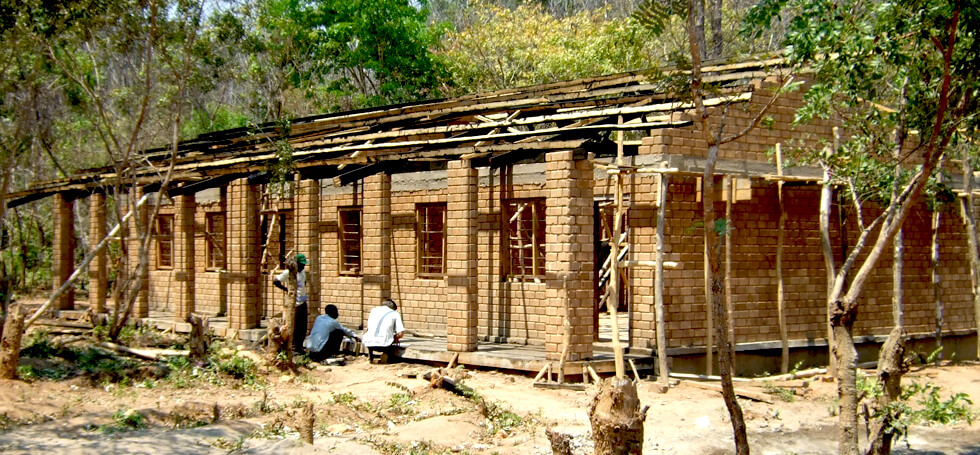RIPPLE Africa started building Kapanda Secondary School in 2007 and building at the school still continues