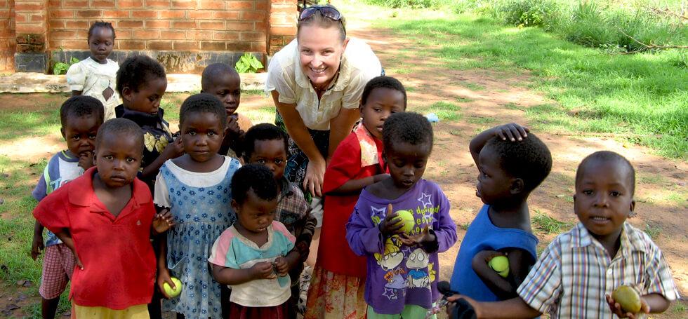 Rachael working in the pre-schools