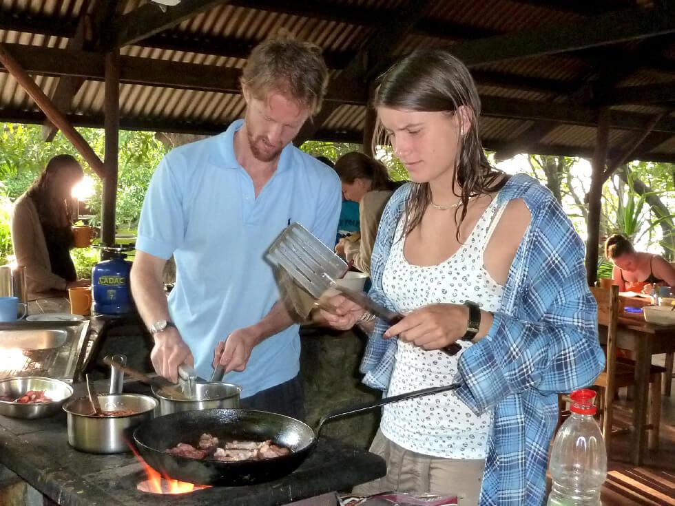 The kitchen at Mwaya