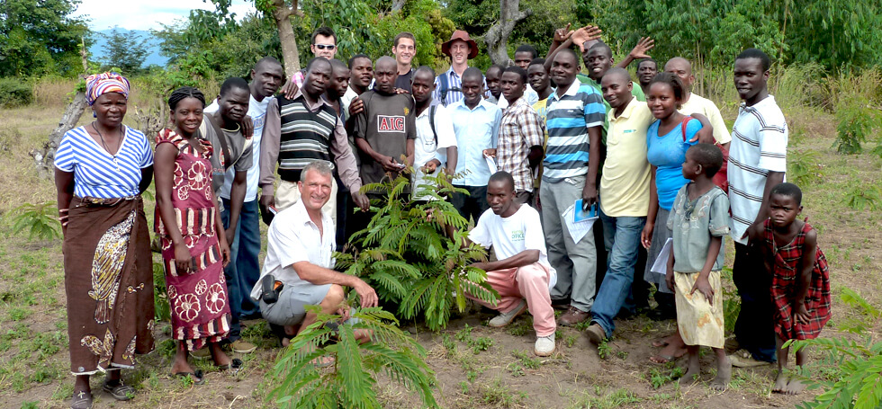 The RIPPLE Africa environmental projects team on a recent training day