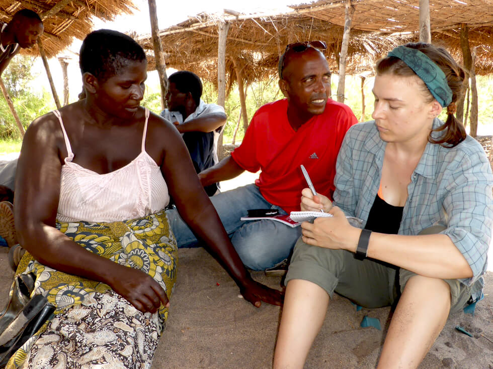 Interviewing Fish Conservation committee members and obtaining data