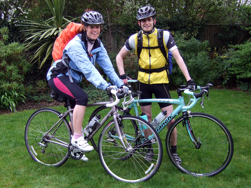 Iain and Sian cycled the length of Italy to raise money for RIPPLE Africa