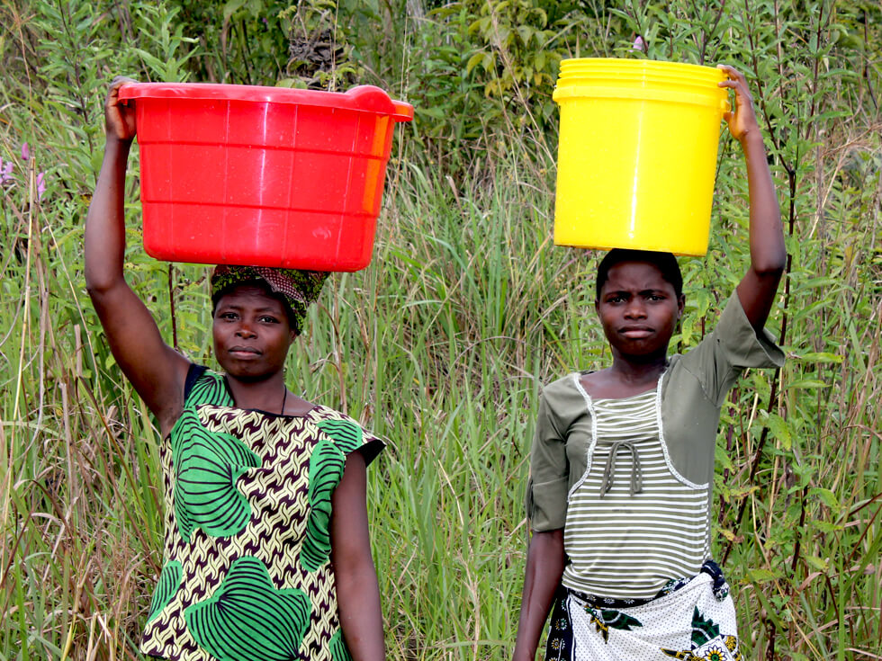 Some women walk for several kilometres with buckets of water every day