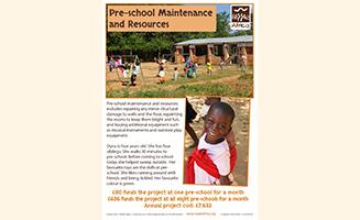 Pre-school Maintenance
