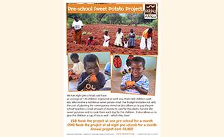 Pre-School Sweet Potato Project