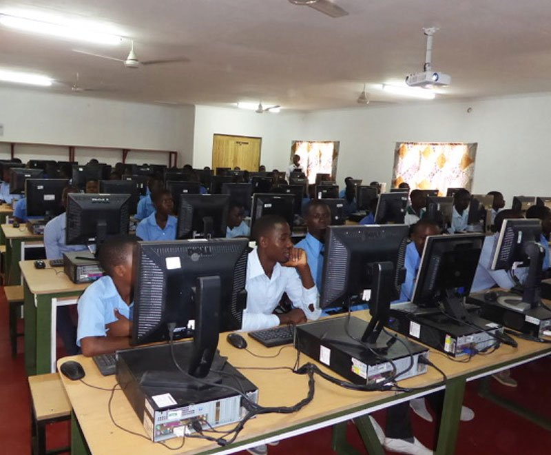 Secondary school education in Africa being improved by a computer laboratory