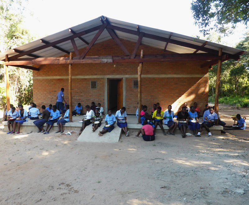 A girls dormitory provides a safe place on site for female students in Africa