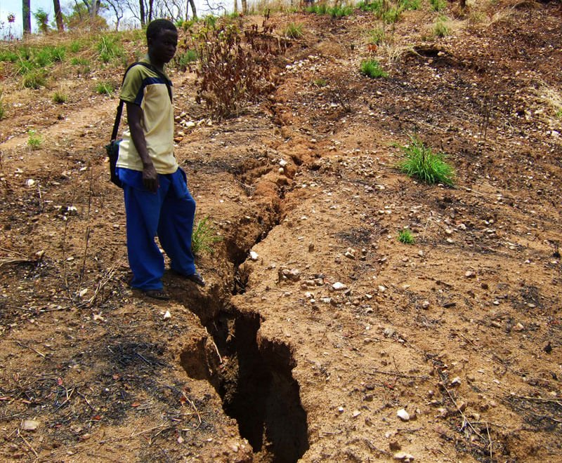 Gully erosion is one of the environmental challenges in Malawi