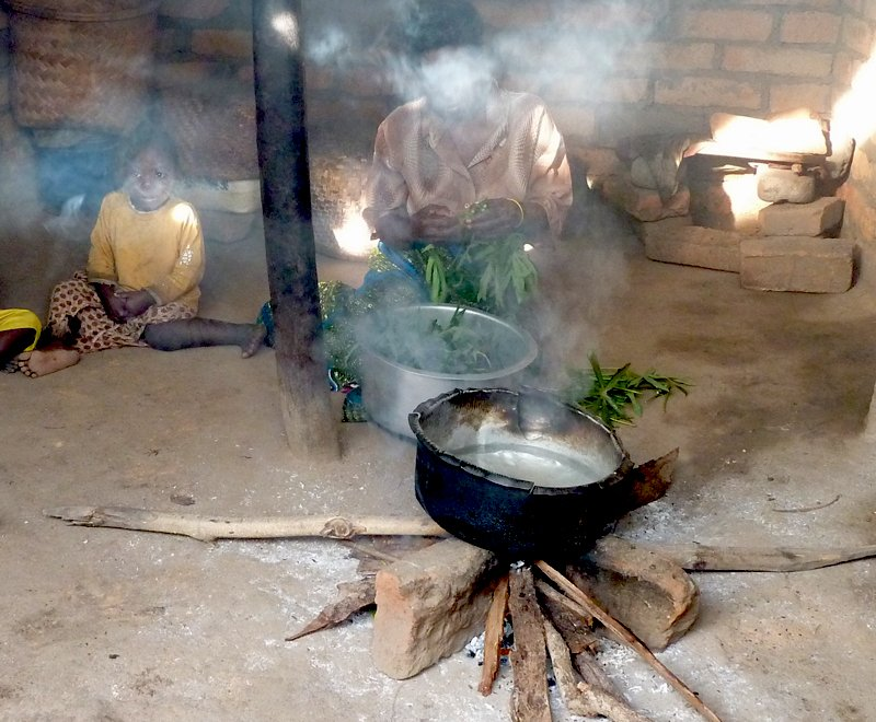 Three stone fire in Malawi