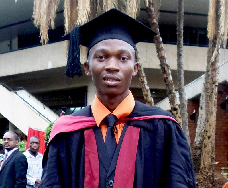 A university student graduates in Malawi