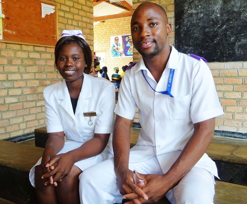 Medical students on placements in a rural clinic in Malawi