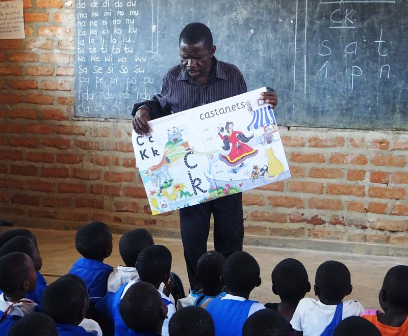 Jolly Phonics is being trialled in Malawi